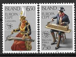 Islande 1985 N° 585/586 Neufs Europa Musique - Nuovi