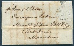 1854 GB / Mauritius Consignees Letter Entire London - Port Louis. - Cartas