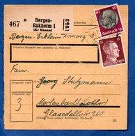 Colis Postal  -  Départ Bergen - Enkheim 1 --  05/2/1943 - Alemania