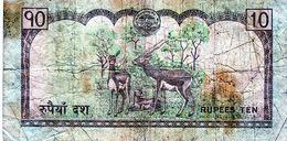 Billet Du Népal N D ( 2005 ) De 10 Rupees En B - - Népal
