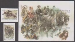 3084/85 + Bl 95 - Paarden - Chevaux - Ongetand Met Nr - Non Dentelé Avec N° - Ocb = 65,00 Euro - Belgium