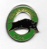 Pin's  Ville, Chasse  à  ARC  EN  BARROIS  ( 52 )  Avec  Un  Animal  SANGLIER - Associations