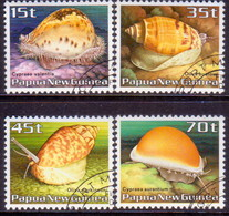 PAPUA NEW GUINEA 1986 SG #516-19 Compl.set Used Seashells - Papua New Guinea