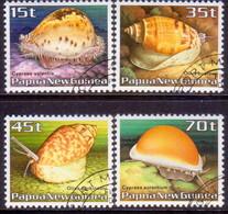 PAPUA NEW GUINEA 1986 SG #516-19 Compl.set Used Seashells - Papouasie-Nouvelle-Guinée