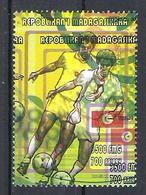 1998 Madagascar MNH - France FIFA World Cup Football Soccer - Tunisia Tunisie - Error Erreur - World Cup
