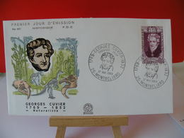 Georges Cuvier (Naturaliste) - 25 Montbéliard - 17.5.1969 FDC 1er Jour - Toutes Très Bon état Garantie - FDC