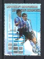 1998 Madagascar MNH - France FIFA World Cup Football Soccer - Argentina Argentine - Error Erreur - World Cup