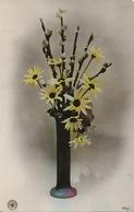 Vase Art Deco Avec Paquerettes  Oranotypie  Cachet Train Nancy à Longu.. - Arts