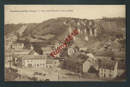 """Comblain-au-Pont (Centre) - Vue Vers L'Ourthe Et Les Rochers.  Voir Dos. """"Visitez Les Grottes"""" - Comblain-au-Pont"""