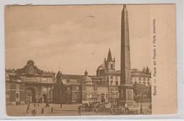 Roma Piazza Del Popolo 1911 - Places