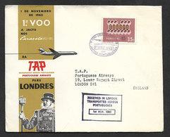 Portugal Premier Vol Jet Lisbonne Londres 1962 First Jet Flight Lisbon London - Poste Aérienne