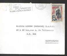 Réunion   Lettre  Du  04  08  1966 Vers  Saint Denis - Reunion Island (1852-1975)