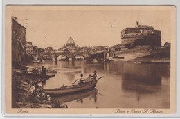 Roma Ponte E Castel S. Angelo 1927 - Castel Sant'Angelo