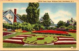 Rhode Island Providence Roger Williams Park Floral Clock 1941 Cu