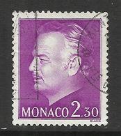 MONACO , 2,30 Frs  , Effigie Du Prince , 1980 , N° YT 1213 , Obl. - Monaco