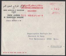 AP100  Algerie 1976  Red Meter, EMA Freistempel - Centre Hospetalier Et Universitair D'Alger Hospital De Mustapha - Algeria (1962-...)