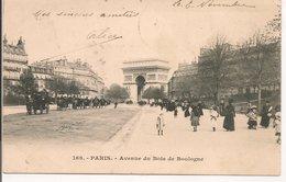 L35B536 - Paris - Avenue Du Bois De Boulogne - N°169 - Petite Animation, Carte Précurseur - Parks, Gardens