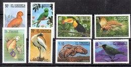 Serie De San Vicente Y Granadinas N ºYvert 3537/44 ** PAJAROS (BIRDS) - St.Vincent Y Las Granadinas