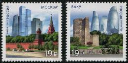 Russia (2015)  - Set -   /  Joint Issue With Azerbaidjan - Architecture - Gezamelijke Uitgaven