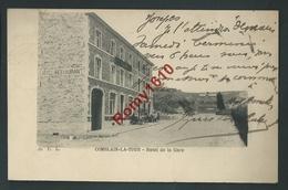 Comblain-la-Tour - Hôtel-Restaurant De La Gare En 1904. Animée. 2 Scans. - Comblain-au-Pont