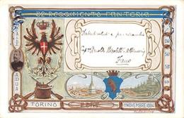 "D9238 ""82 REGIMENTO FANTERIA - MACALLE ADUA TORINO - 1 NOVEMBRE 1884"" . CART    SPED - Sonstige"