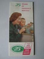 25 YEARS OF FRIENDLY SERVICE. AER LINGUS, IRISH INTERNATIONAL ARILINES (1936-1961) - IRELAND, 1961. BOEING SHAMROCK JET. - Advertisements