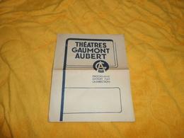 PROGRAMME DE 1936.. THEATRES GAUMONT AUBERT...MUSIC LAND / MARINELLA TINO ROSSI - Programs