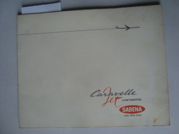 CARAVELLE JET CONTINENTAL. SABENA LÍNEAS AÉREAS BELGAS. CARAVELLE VI - BELGIUM, 1960. - Advertisements