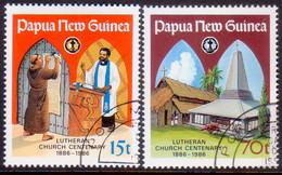 PAPUA NEW GUINEA 1986 SG #529-30 Compl.set Used Lutheran Church In Papua New Guinea - Papua New Guinea