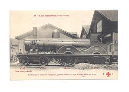 LES  LOCOMOTIVES DE L'OUEST  MACHINE POUR TRAINS DE VOYAGEURS   GRANDE VITESSE   1er TYPE A BOGIE   SERIE 983  N° 8 - Trains