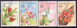 PAPUA NEW GUINEA 1986 SG #531-34 Compl.set Used Orchids - Papua New Guinea