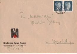 Beleg Brief DR Deutsches Reich - DRK Deutsches Rotes Kreuz - Bereitschaft Calbe - O 1942 !!! - Briefe U. Dokumente