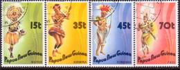 PAPUA NEW GUINEA 1986 SG #535-38 Compl.set Used Dancers - Papua New Guinea