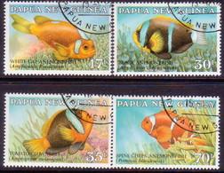 PAPUA NEW GUINEA 1987 SG #539-42 Compl.set Used Anemonefish - Papua New Guinea
