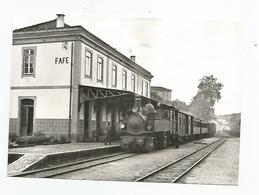 Portugal Porto Linha Lousado Fafe Train Au Terminus De Fafe 1973, Cpm - Porto