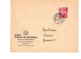 Beleg Brief DR Deutsches Reich - Reichsbund Für Leibesübungen - Schwimmen - Berlin Reichssportfeld - O 1938 !!! - Briefe U. Dokumente