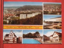 "Homburg / Saar - Mehrbildkarte ""Grüße Aus Homburg / Saar"" / Schwimmbad - Saarpfalz-Kreis"