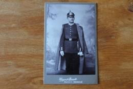 Photo  Sous Officier Casque A Pointe Saxon  Garde Imperiale Vers 1910 1914 - Guerra, Militares