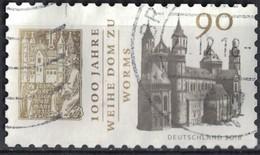 Allemagne 2018 Oblitéré Used 1000 Ans Consécration De La Cathédrale De Worms SU - [7] République Fédérale