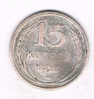15 KOPEK 1925  CCCP RUSLAND /3367/ - Russie