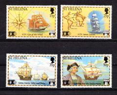 SAINT  HELENA    1992    500th  Anniv  Of  Discovery  Of  America    Set  Of  4    MNH - Saint Helena Island