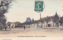 CPA 38 @ LE GRAND LEMPS En 1911 - Place Du Château @ J.G (Voiron) N° 266 - Autres Communes