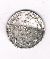 10 KOPEK  1914 CCP  RUSLAND /3370/ - Russie
