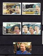 SAINT  HELENA    1992    40th  Anniv  Of  Accession  Of  Q E II    Set  Of  5    MNH - Saint Helena Island