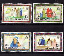 SAINT  HELENA    1992    Christmas    Set  Of  4    MNH - Saint Helena Island
