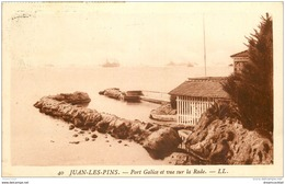 06 JUAN-LES-PINS. Port Galice Et Vue Sur La Rade 1927 - Antibes