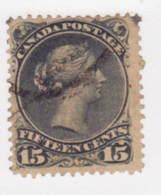 8939) Canada  Large Queen Hinge  Postmark Cancel - Oblitérés