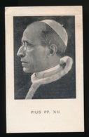 PAUS PIUS XII  ROME 1876  - CASTEL GANDOLFO 1958   2 SCANS - Décès
