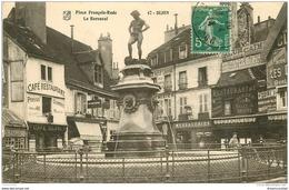 21 DIJON. Le Bareuzai Place François Rude 1914 Café Restaurant Blanc, Messagerie Et Pathéphone - Dijon