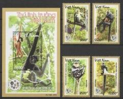 Vietnam (2014) - Set + Block -   /  Monkey - Primates - Apen